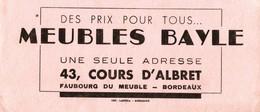 BUVARD MEUBLES BAYLE - BORDEAUX - Buvards, Protège-cahiers Illustrés