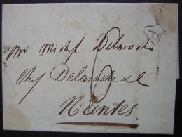 1806 P Dans Triangle Noir Ouvert En Bas (Lettre De Paris Pour Nantes) - 1801-1848: Précurseurs XIX
