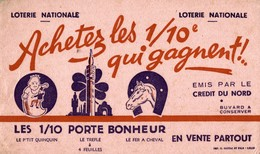 BUVARD  LOTERIE NATIONALE - Buvards, Protège-cahiers Illustrés