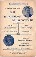 PARTITION MUSIQUE.la Madelon De La Victoire;chevalier;valroger;boyer;borel-clerc. Achat Immédiat - Partitions Musicales Anciennes