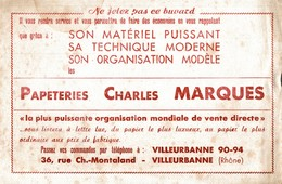 BUVARD PAPETERIES CHARLES MARQUES - Stationeries (flat Articles)