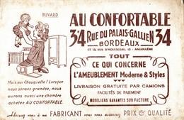 BUVARD  AU CONFORTABLE A BORDEAUX - Buvards, Protège-cahiers Illustrés