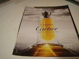 PUBLICITE AFFICHE PARFUM L ENVOL DE CARTIER 1980 - Perfume & Beauty