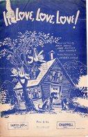PARTITION MUSIQUE.LOVE,LOVE,LOVE !MAKE DAVID.WHITNEY.KRAMER.CHAPPEL. Achat Immédiat - Partitions Musicales Anciennes