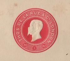 BRITISH COLONIAL DE LA RUE VICTOR EMANUEL ITALY 1882 POSTAL STATIONERY PROOF - Great Britain (former Colonies & Protectorates)
