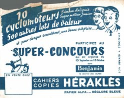 BUVARD  CAHIER COPIES HERAKLES - Stationeries (flat Articles)