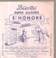 Buvard Biscottes Super Allégées ST HONORE La Cigale Et La Fourmi - Zwieback