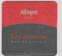 """Sous-bocks : LE  Mans  Sarthe , Restaurant   Brasserie """"  Les  Tontons """"   Affligen - Beer Mats"""