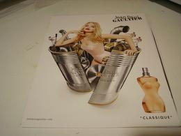 PUBLICITE AFFICHE PARFUM CLASSIQUE DE JEAN PAUL GAUTHIER 2016 - Fragrances
