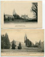 LOT 2 Cartes - BONNELLES Eglise Orangerie Et Potager Du Château & Vue De L'Eglise Prise Du Parc - France