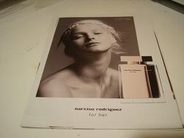 PUBLICITE AFFICHE PARFUM  FOR HER DE NARCISO 2016 - Perfume & Beauty