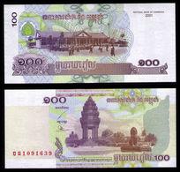 Cambogia 100 Riel 2001 - Cambodia UNC FdS - Cambogia