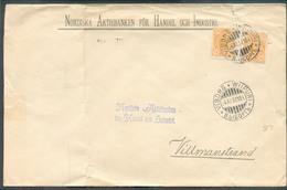 Lettre De VIBORG WIIPURI Le 4-XI-1897 Vers Villmanstrand (Nordiska Aktiebanken Für Handel Och Industri)  - 13348 - 1856-1917 Administration Russe