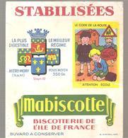 Buvard Biscottes Mabiscotte Le Code De La Route Attention école - Zwieback