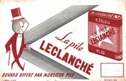 BUVARD   LA PILE LECLANCHE - Piles