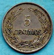T1c /  ECUADOR - EQUATEUR  5 Centavos 1919 Km#63 - Equateur