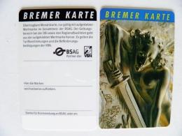 Plastic Transport Ticket Bus Tram From Germany Bremer Karte - Week-en Maandabonnementen