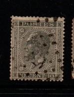 Belgium 1865   Ten Cents Grey Used - 1865-1866 Profil Gauche