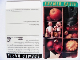 Plastic Transport Ticket Bus Tram From Germany Bremer Karte Christmas Noel - Abbonamenti