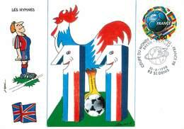 Illustrateur Léon Max - Enghien Les Bains - Sports - Football - Coupe Du Monde 1998 - Angleterre - Autographe -Signature - Illustrateurs & Photographes