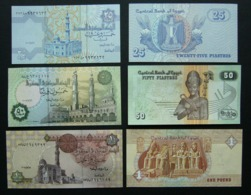Egitto 25 E 50 Pistre 2006-2007 + 1 Pound 2006 FDS UNC Piastres Egypt Egypte - Egitto