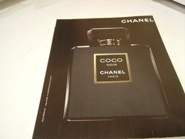 ANCIENNE PUBLICITE PARFUM CHANEL COCO NOIR - Perfume & Beauty