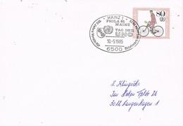 29918. Carta MAINZ (Alemania Federal) 1985. Tag Del UNO.  O.N.U. - [7] República Federal