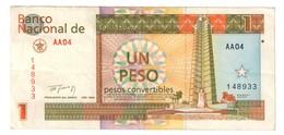 Kuba 1 Peso Convertible (CUP) 1994 .J. - Cuba