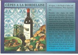 CPSM RECETTE CUISINE CEPES A LA BORDELAISE - Recipes (cooking)