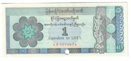 Myanmar 1 Dollar 1993 Foreign Exchange Certificate .J. - Myanmar
