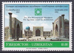 Usbekistan Uzbekistan 1992 Kunst Arts Kultur Culture Architektur Aga Khan Bauwerke Buildungs Sarmakand, Mi. 5 ** - Usbekistan