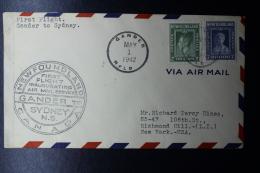 New Foundland FFC Gander -> Sydney, 1-5-1942 Trans Canada Airlines   Ac 45c - Neufundland