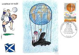 Illustrateur Pages - Enghien Les Bains - Sports - Football - Coupe Du Monde 1998 - Ecosse - Autographe - Signature - Pages