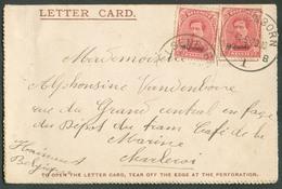 OC10 Centimes (x2)  Surchargés MALMEDY Obl. Sc ELSENBORN Sur Carte-lettre Du 4-5-1920 Vers Charleroi - 13356 - Guerre 14-18