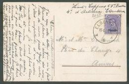 OC 15 Centimes ( Surchargé MALMEDY Obl. Sc ELSENBORN Sur Carte Postale Du 15-6-1921 Vers Anvers - 13357 - Guerre 14-18