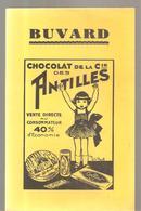 Buvard Chocolat De La Cie Des ANTILLES - Cocoa & Chocolat