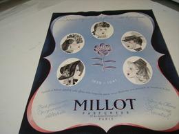 ANCIENNE PUBLICITE PARFUM  .MILLOT 1941 - Perfume & Beauty