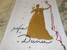 ANCIENNE  PUBLICITE PARFUM DE DANA 1942 - Perfume & Beauty