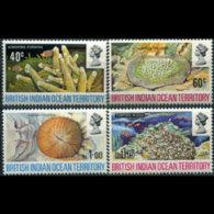 BR.I.O.T. 1972 - Scott# 44-7 Corals Set Of 4 MNH - British Indian Ocean Territory (BIOT)