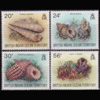 BR.I.O.T. 1996 - Scott# 172-5 Seashells Set Of 4 MNH - British Indian Ocean Territory (BIOT)