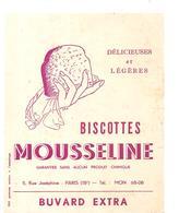 Buvard MOUSSELINE Biscottes MOUSSELINE Délicieuses Et Légères - Zwieback