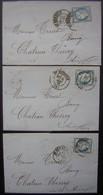 1876 Saint Quentin (Aisne) Lot De 3 Lettres De Rouart Lepaute (Museux) Pour Chateau Thierry - Postmark Collection (Covers)