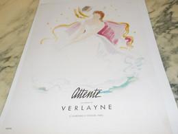 ANCIENNE PUBLICITE PARFUM ATTENTE  DE VERLAYNE 1942 - Perfume & Beauty