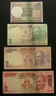 India 1, 5, 10 E 20 Rupie Rupee - 4x Pcs Set UNC FDS - India