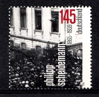 Bund 2015  Mi.nr.:3165 Geburtstag Philipp Scheideman  Gestempelt / Oblitérés / Used - [7] République Fédérale