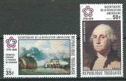 Togo YT N°856/857 Indépendance Des Etats-Unis Neuf ** - Togo (1960-...)