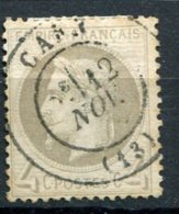 8597  FRANCE  N°27B ° 4c  Gris  Oblitération: CàD (Caen)    Napoléon III Lauré   1866    B/TB - 1863-1870 Napoléon III Lauré