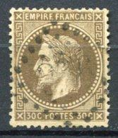 8600  FRANCE  N°30 °  30c Brun Oblitération:  G.C 366 Ou 396 ?  Napoléon III Lauré  1867    TB - 1863-1870 Napoléon III. Laure