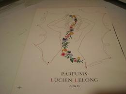 ANCIENNE PUBLICITE PARFUMS LUCIEN LELONG   1942 - Parfums & Beauté