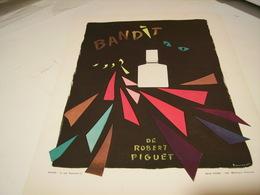 ANCIENNE PUBLICITE PARFUM BANDIT DE ROBERT PIGUET 1942 - Perfume & Beauty